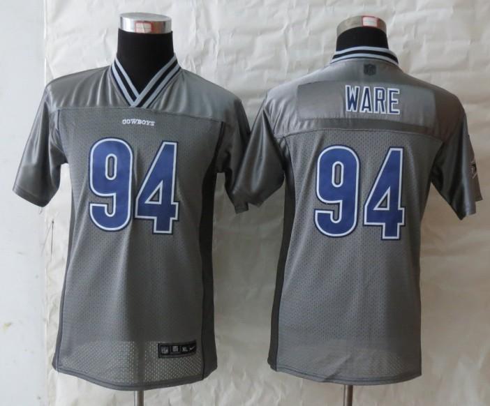 Youth Dallas cowboys 94 Ware Grey Vapor 2013 NEW Nike Elite Jerseys