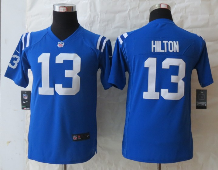 Youth Indianapolis Colts 13 Hilton Blue Nike Elite Jersey