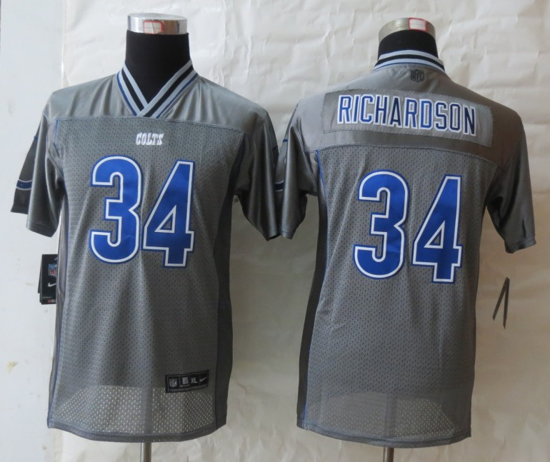 Youth Indianapolis Colts 34 Richardson Grey Vapor 2013 NEW Nike Elite Jerseys