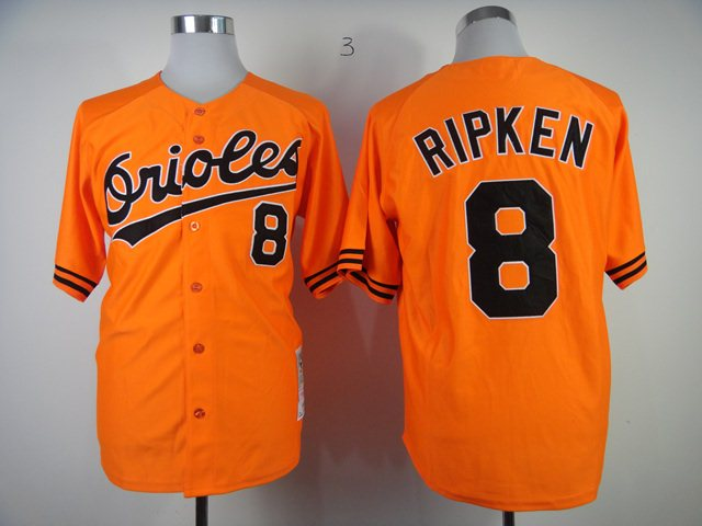 MLB Jerseys baltimore orioles 8 RIPKEN Orange M&N 1989 jerseys