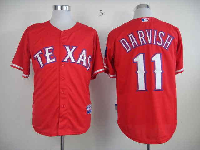 MLB Jerseys Texas Rangers 11 Darvish Red 2014 new Jerseys
