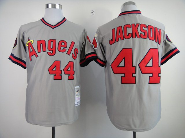MLB jerseys Los Angeles Angels 44 Jackson M&N 1985 grey jerseys
