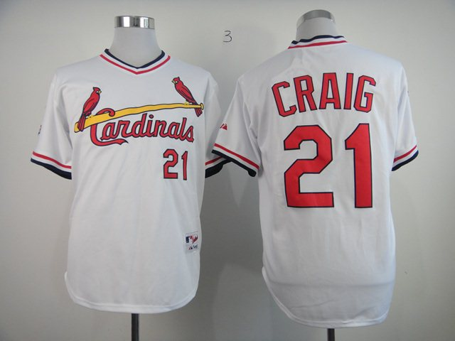 St. Louis Cardinals 21 Authentic Allen Craig white jerseys