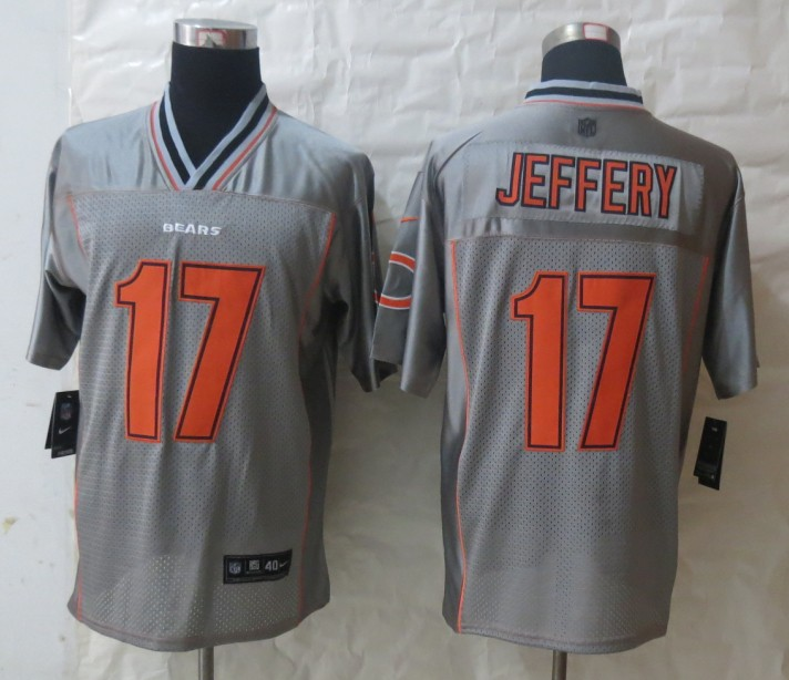 2013 NEW Nike Chicago Bears 17 Jeffery Grey Vapor Elite Jerseys