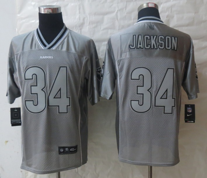 2013 New Nike Oakland Raiders 34 Jackson Grey Vapor Elite Jerseys