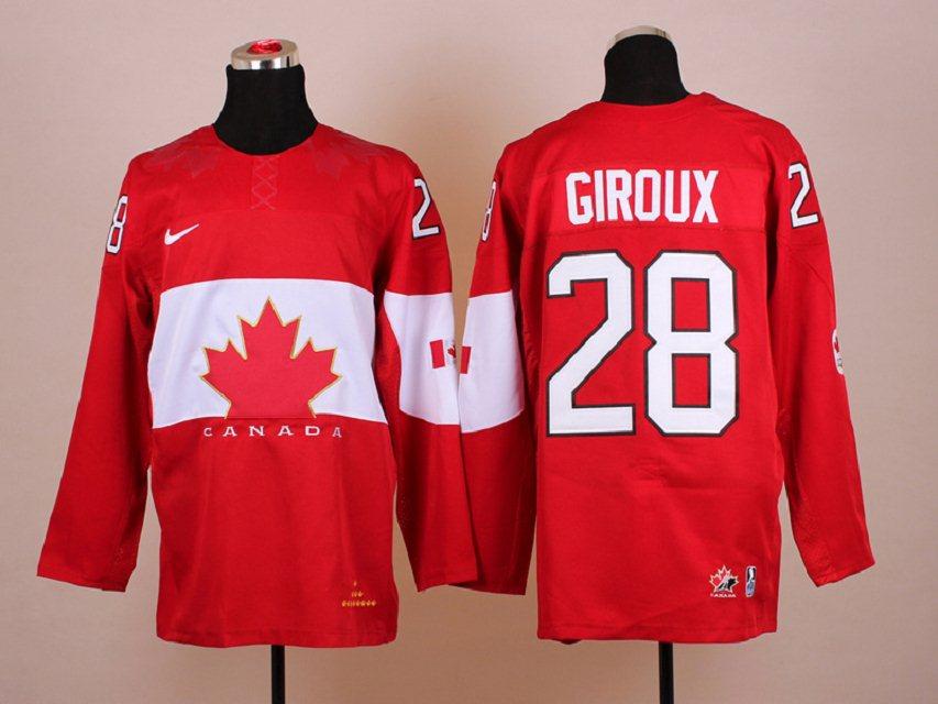 NHL 2014 Winter Olympic Team Canada 28 Giroux Red Hockey Jersey