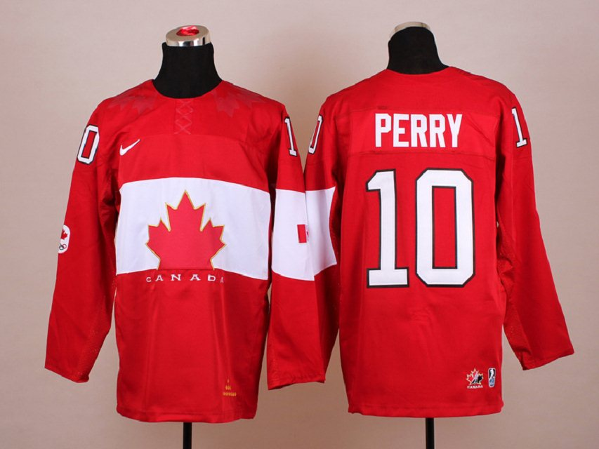 NHL 2014 Winter Olympic Team Canada 10 Perry Red Hockey Jersey