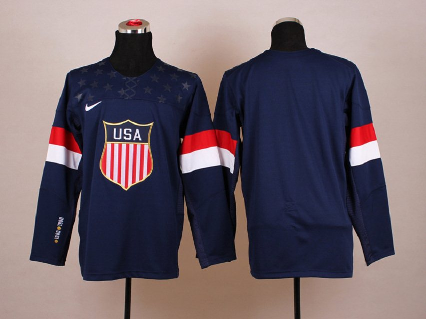 NHL 2014 Winter Olympic Team USA Blue Hockey Jersey