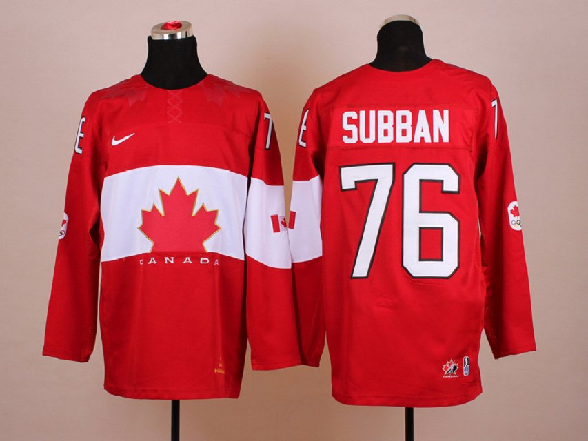 NHL 2014 Winter Olympic Team Canada 76 Subban Red Hockey Jersey