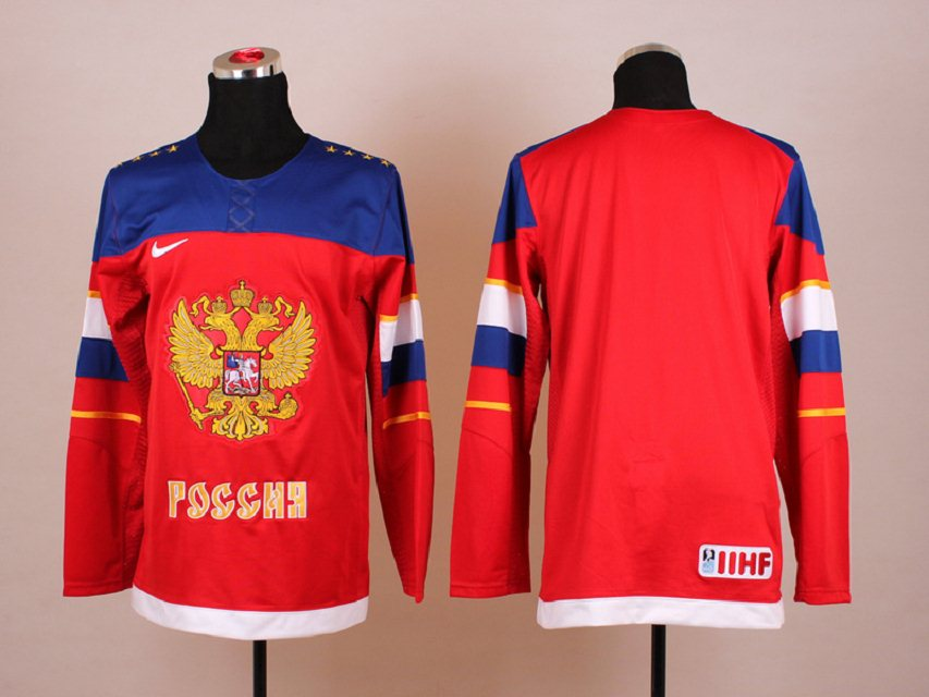 NHL 2014 Winter Olympic Team Russia Red Hockey Jersey