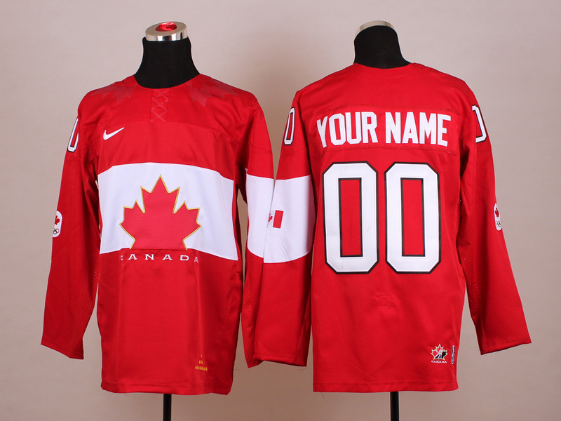 NHL 2014 Winter Olympic Team Canada 00 Red Hockey Jersey