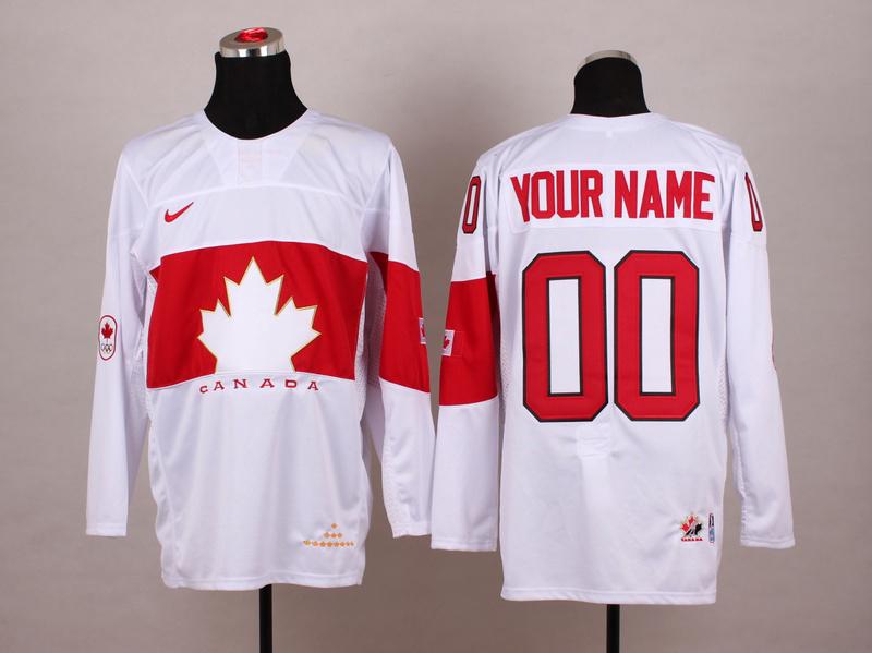 NHL 2014 Winter Olympic Team Canada 00 white Hockey Jersey