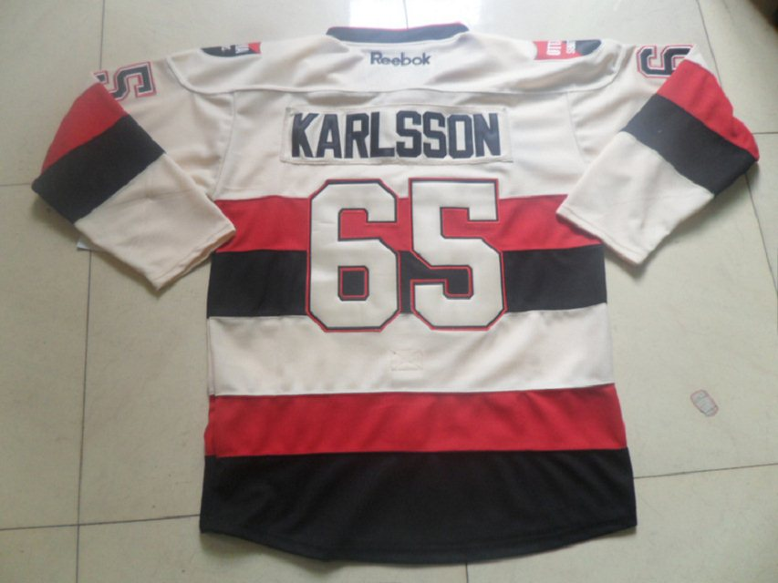 Erik Karlsson nhl Jersey-Ottawa Senators 65 Authentic Black Third hockey Jersey