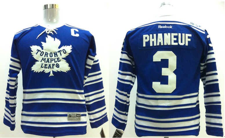 NHL Toronto Maple Leafs 3 Dion Phaneuf Kids blue Jerseys