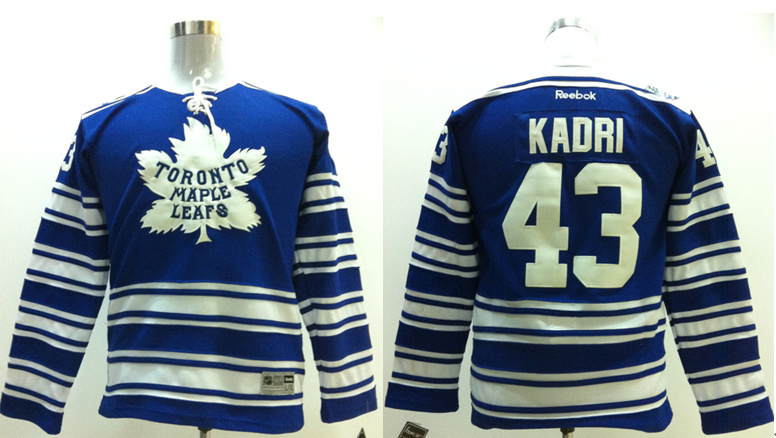 NHL Toronto Maple Leafs 43 Nazem Kadri kids blue jerseys