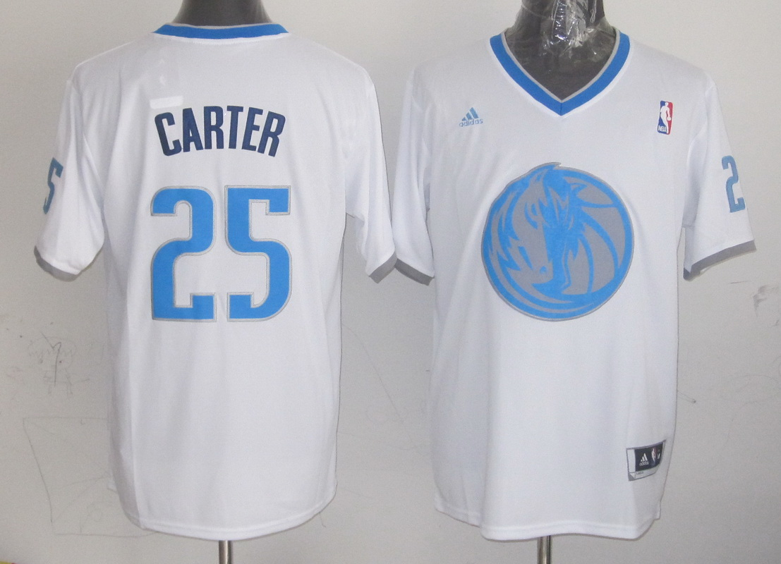 NBA Dallas Mavericks 25 Carter White 2013 Christmas Day Jersey