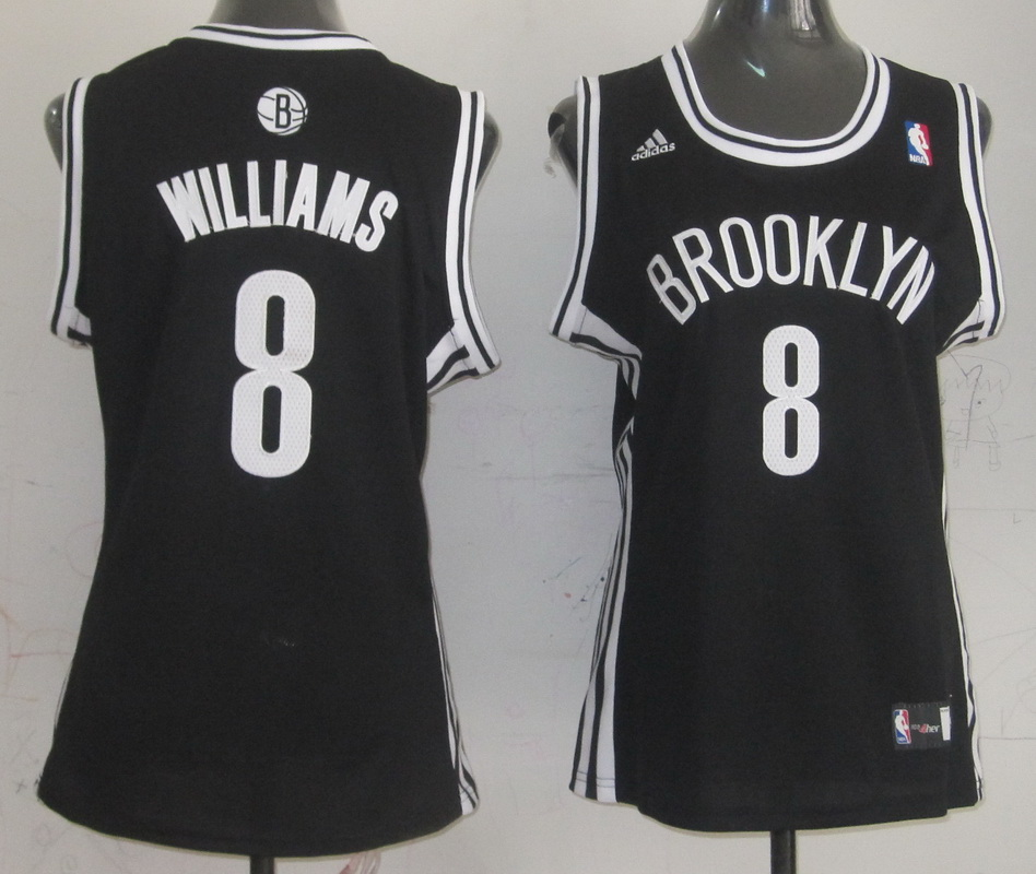 NBA Womens Brooklyn Nets 8 Deron Williams Replica Black Jersey