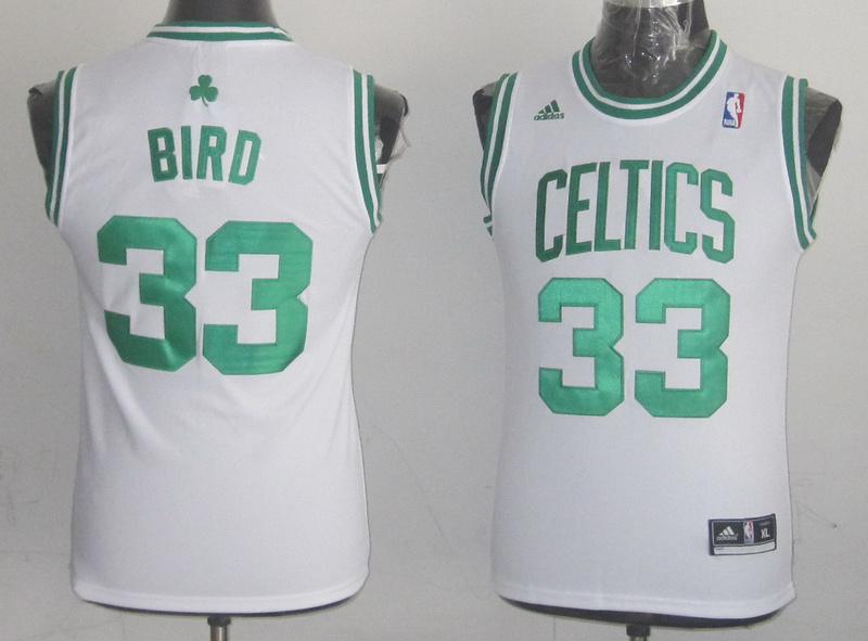 NBA Youth Boston Celtics 33 Larry Bird white jersey