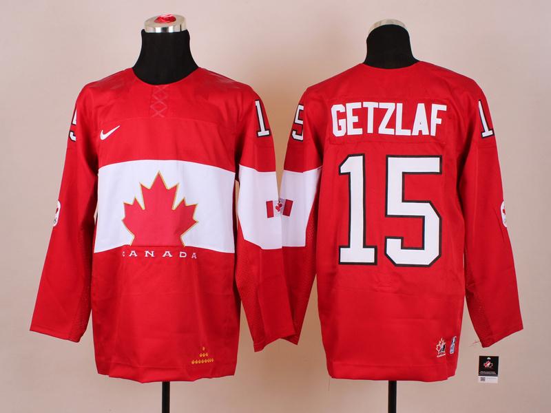 NHL 2014 Winter Olympics Team Canada 15 Getzlaf Red KIDS Jersey