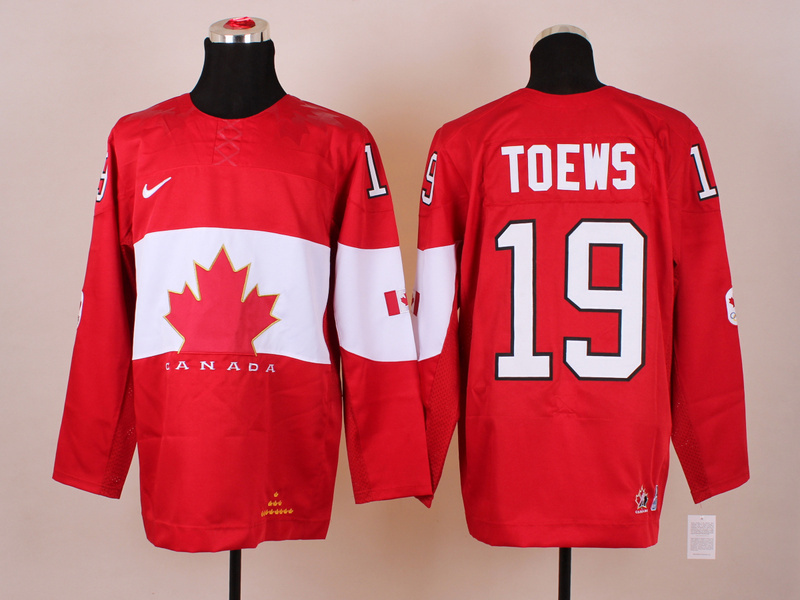 NHL 2014 Winter Olympics Team Canada 19 Toews Red KIDS Jersey