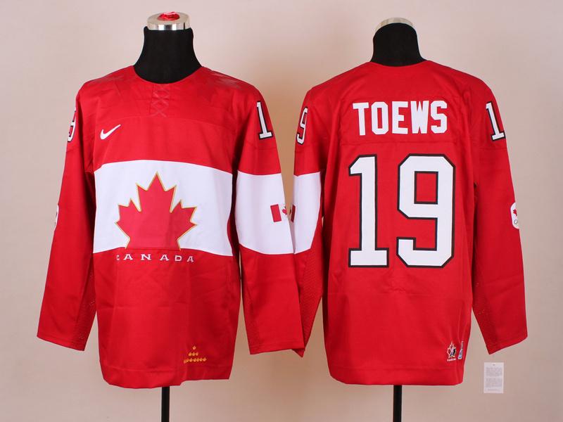 NHL 2014 Winter Olympics Team Canada 19 Toews Red KIDS Jersey