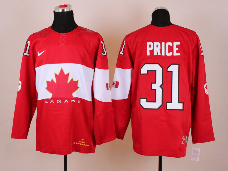 NHL 2014 Winter Olympics Team Canada 31 Price Red KIDS Jersey