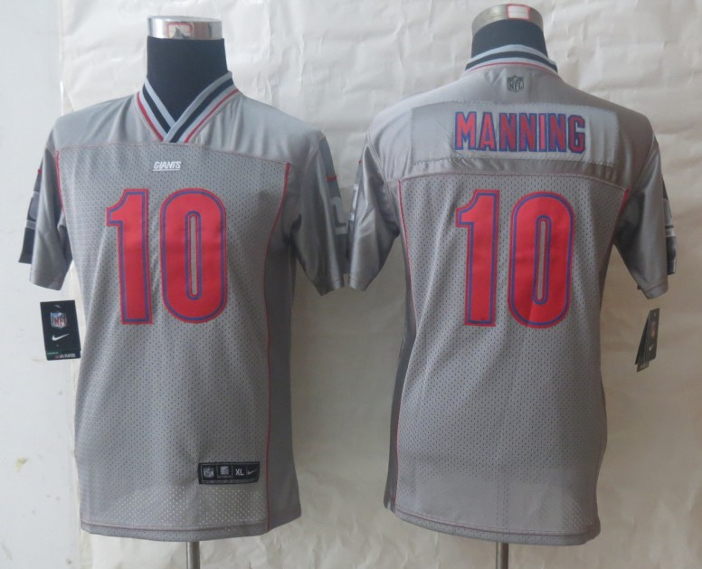 Youth 2013 NEW Nike New York Giants 10 Manning Grey Vapor Elite Jerseys