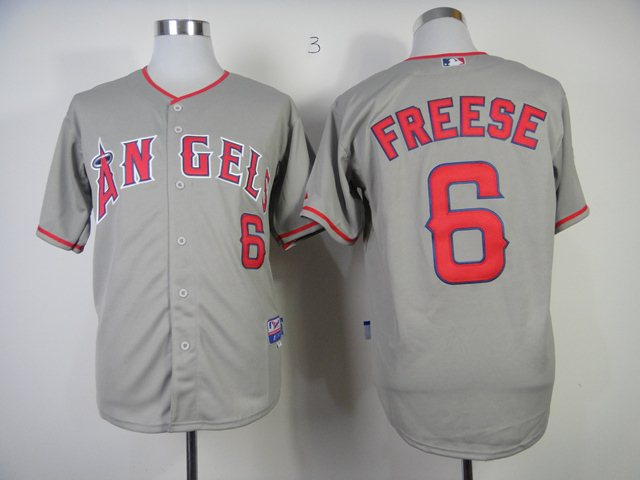 MLB Los Angeles Angels 6 Freese grey jerseys