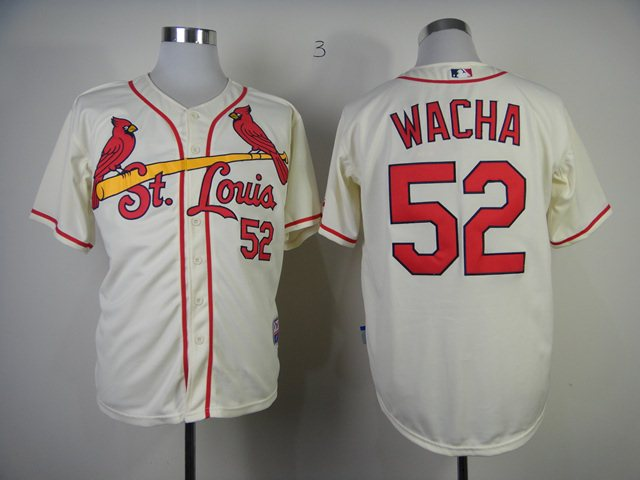 MLB St. Louis Cardinals 52 Wacha cream Jerseys