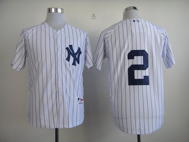 New York Yankees 2 Derek Jeter Pinstripe Baseball jerseys