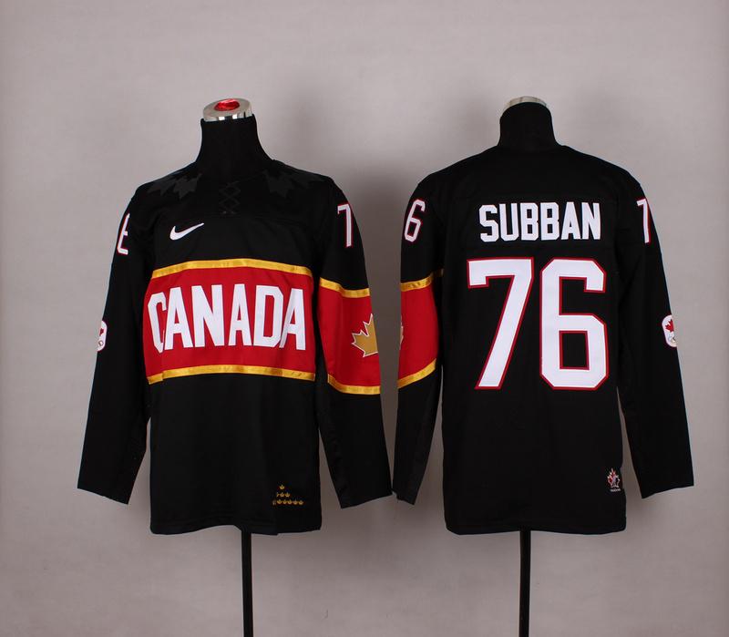 NHL 2014 Winter Olympic Team Canada 76 Subban black Hockey Jersey