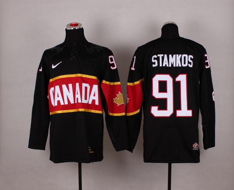NHL 2014 Winter Olympic Team Canada 91 Stamkos black Hockey Jersey