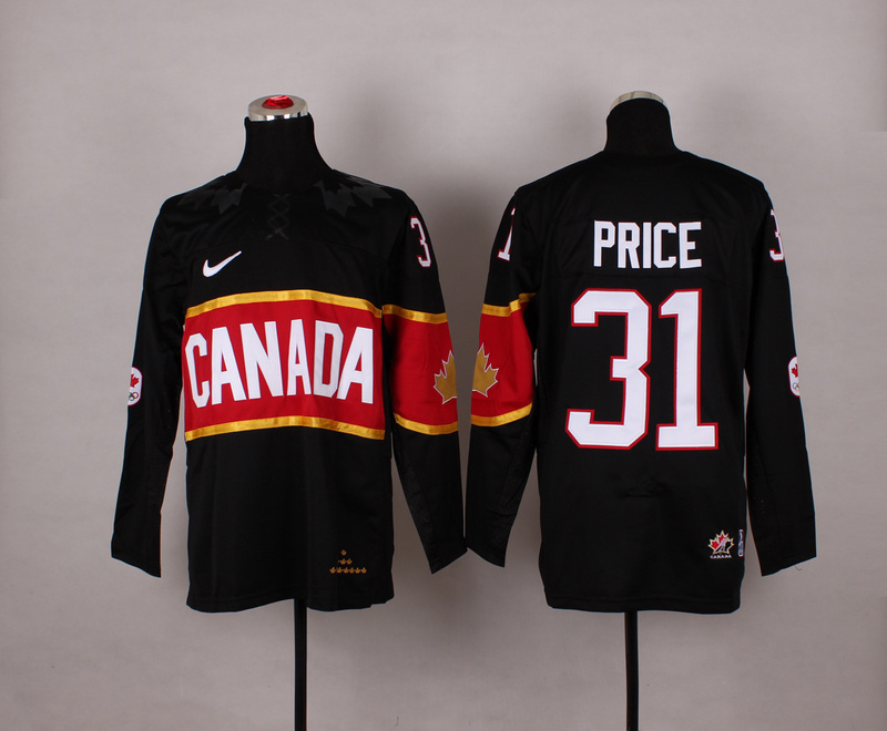 NHL 2014 Winter Olympics Team Canada 31 Price black Jersey