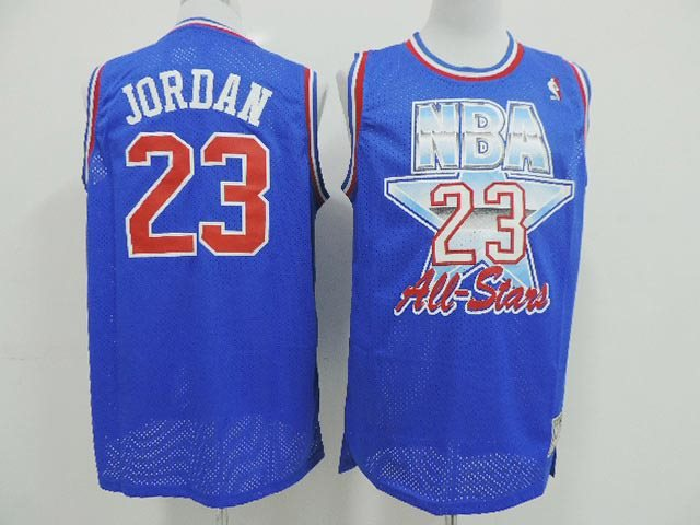 NBA All star Chicago Bulls 23 Jordan blue 1993 throwback jersey