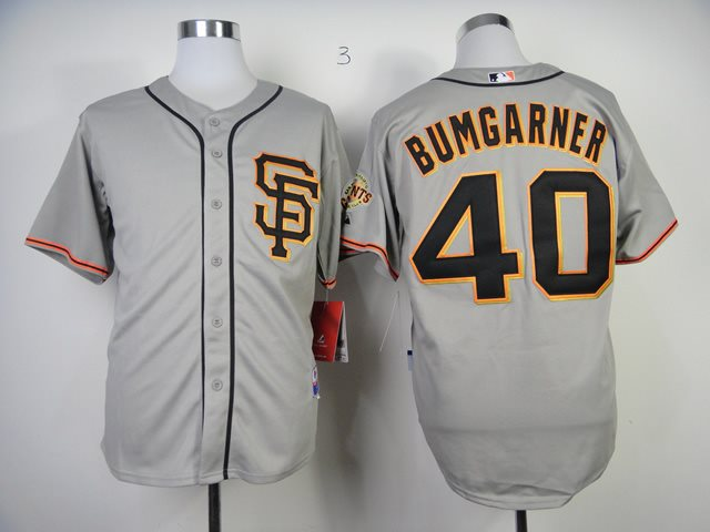 San Francisco Giants 40 Madison Bumgarner Grey MLB Jersey