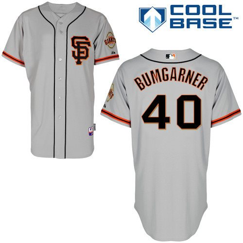 San Francisco Giants Authentic 40 Madison Bumgarner grey Cool Base Baseball Jersey