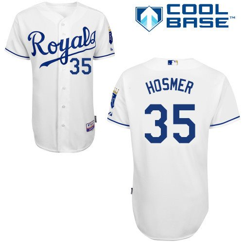Kansas City Royals 35 Eric Hosmer white Cool Base Baseball Jersey