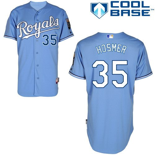 Kansas City Royals 35 Eric Hosmer light blue Cool Base Baseball Jersey