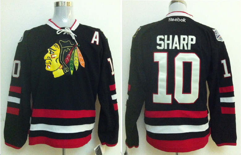 2014 NHL Chicago Blackhawks 10 Patrick Sharp Black Jersey