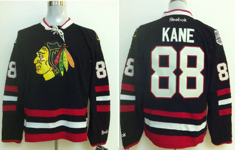 NHL Hockey Jerseys Chicago Blackhawks 88 Patrick Kane Black jerseys