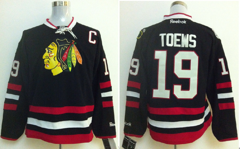 2014 NHL Hockey Jerseys Chicago Blackhawks 19 Janathan Toews Black
