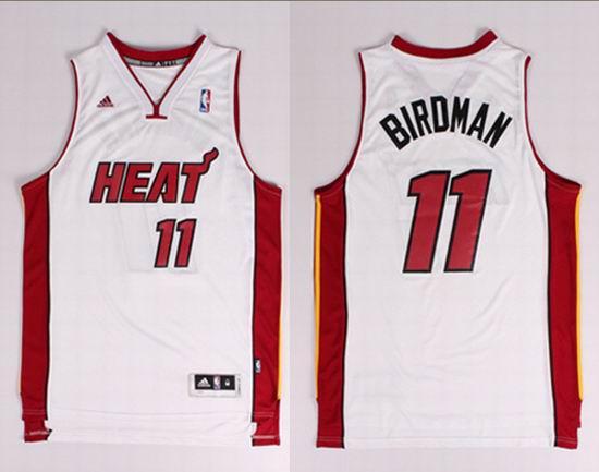 2014 New Style Miami Heat 11 Anderson (Birdman) Nickname NBA Jerseys White