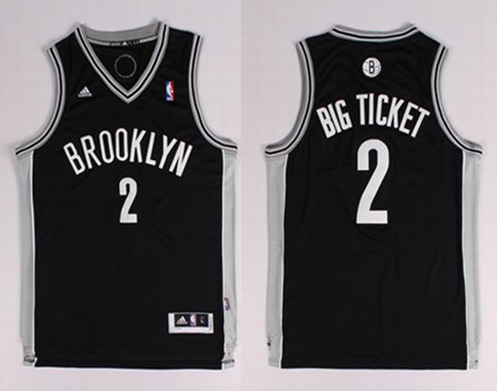 2014 Brooklyn Nets 2 Kevin Garnett (Big Ticket) Nickname NBA Jerseys Black