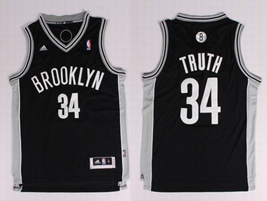 2014 Brooklyn Nets 34 Pierce (Truth) Nickname NBA Jerseys Black