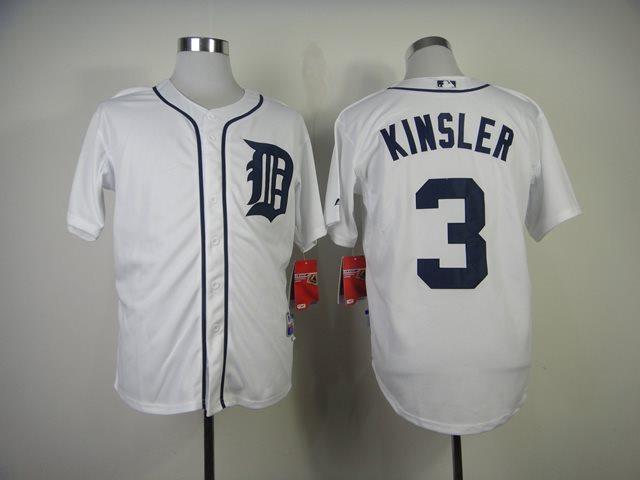 Detroit Tigers 3 Kinsler white MLB Jersey