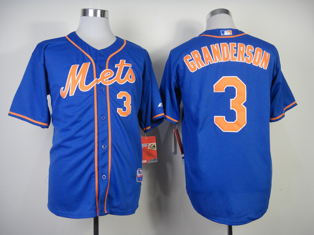 MLB New York Mets 3 granderson Blue jerseys