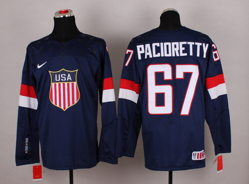 NHL 2014 Winter Olympic Team USA 67 Max Pacioretty Blue Hockey Jersey