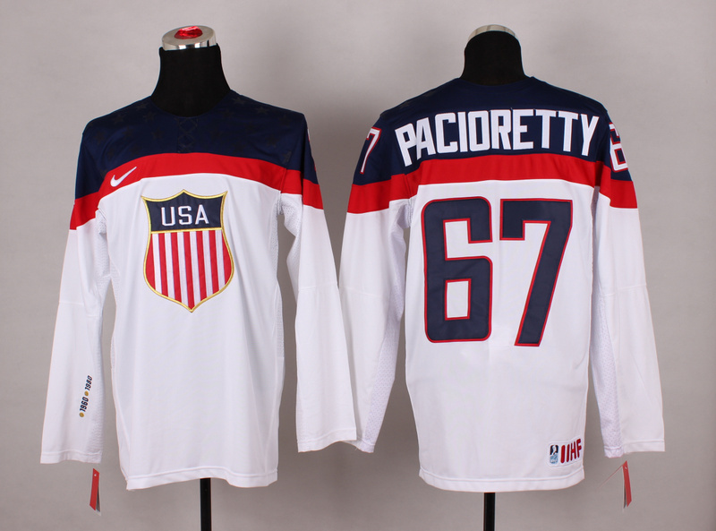 NHL 2014 Winter Olympic Team USA 67 Max Pacioretty White Hockey Jersey