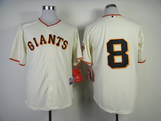 San Francisco Giants 8 Hunter Pence cream MLB Jersey