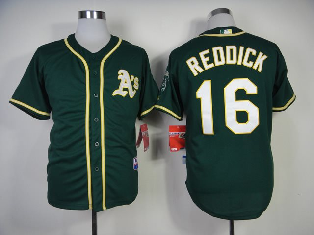 2014 MLB Oakland Athletics 16 Reddick Green Jersey